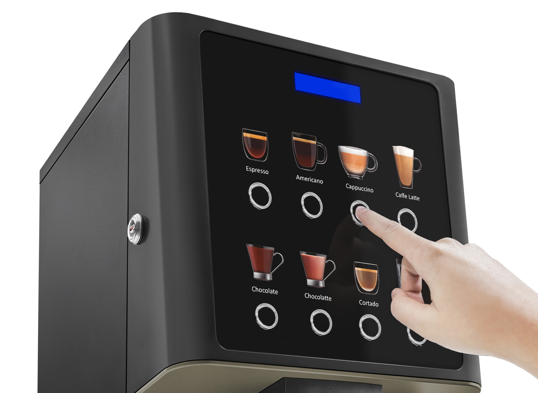 Arezzo Bean to Cup Machine Touch Screen