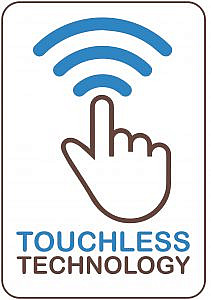 contactless and touch free coffee machine icon